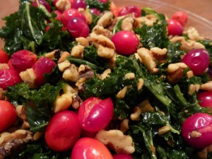 cranberries walnuts orange kale salad