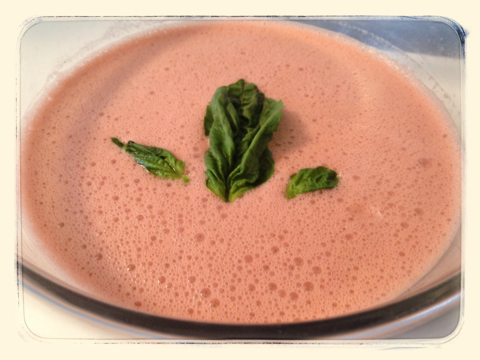 Cool Watermelon Basil Soup (perfect for the Vitamix) | A,B,C,Vegan